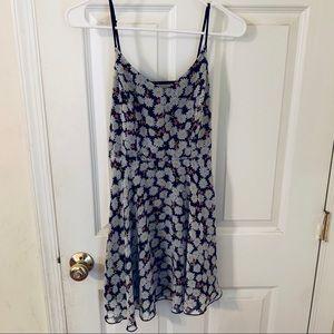 Cage back floral dress